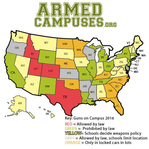 Laws Concerning Concealed Firearms On Pennsylvania's Cuses: States With Open Carry Map At Usa Maps